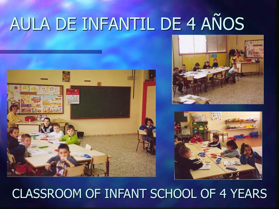 AULA DE INFANTIL DE 4 AÑOS