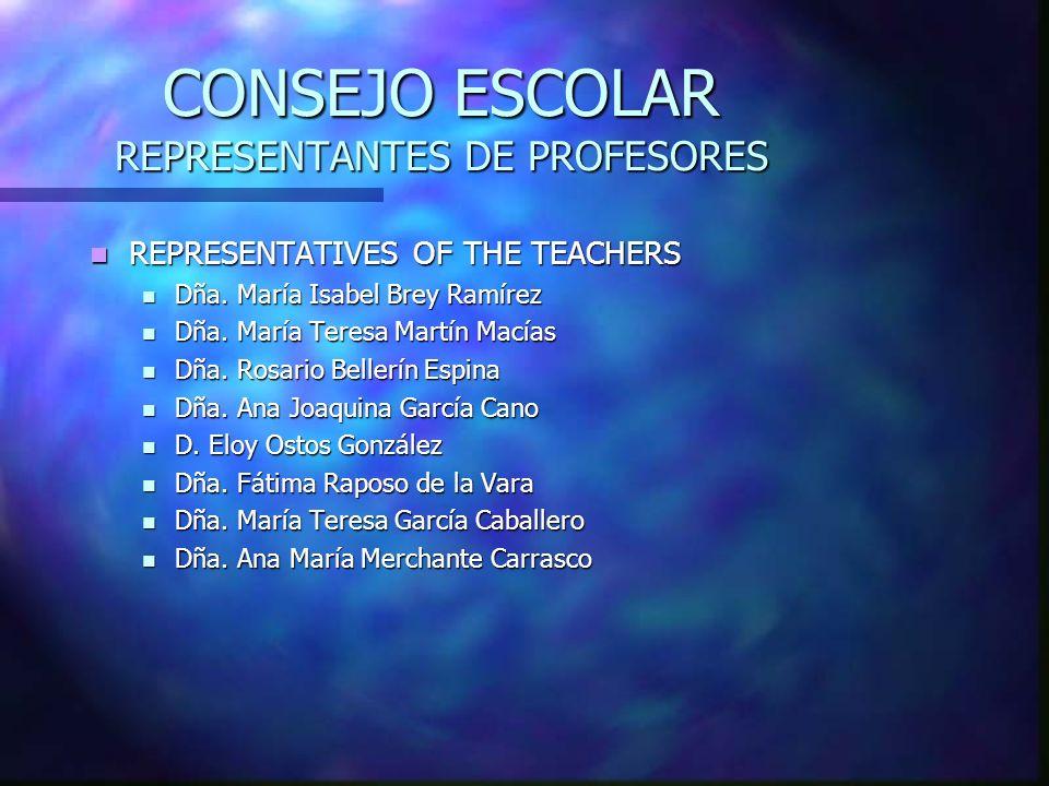 CONSEJO ESCOLAR REPRESENTANTES DE PROFESORES