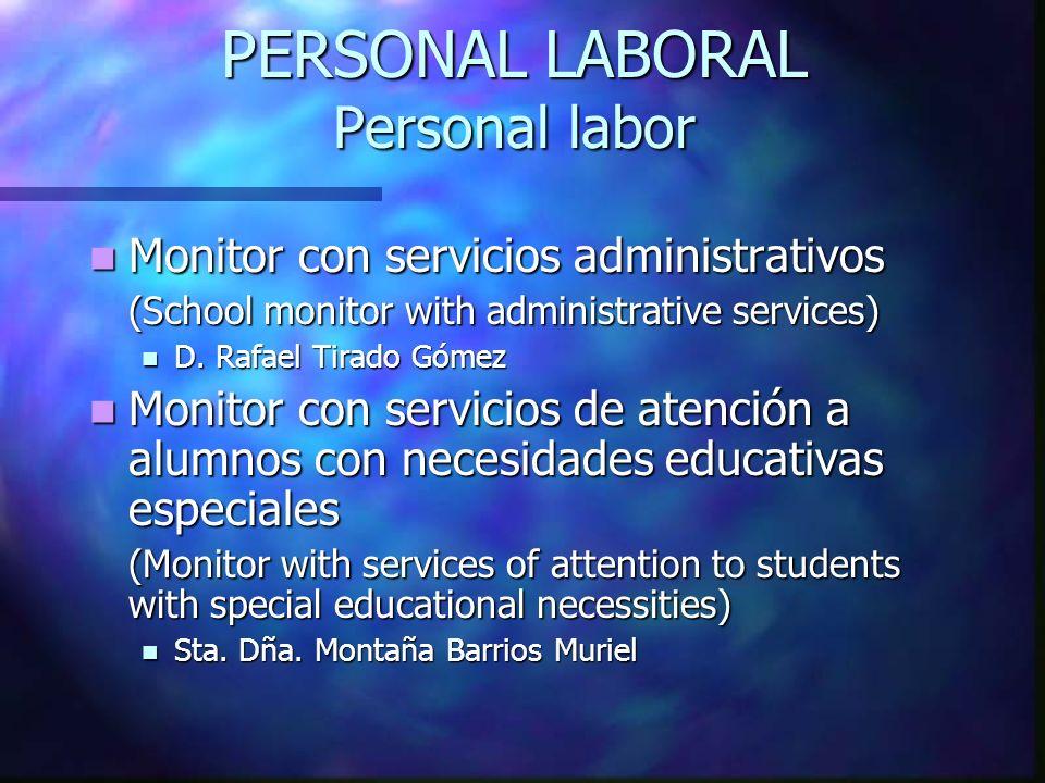 PERSONAL LABORAL Personal labor