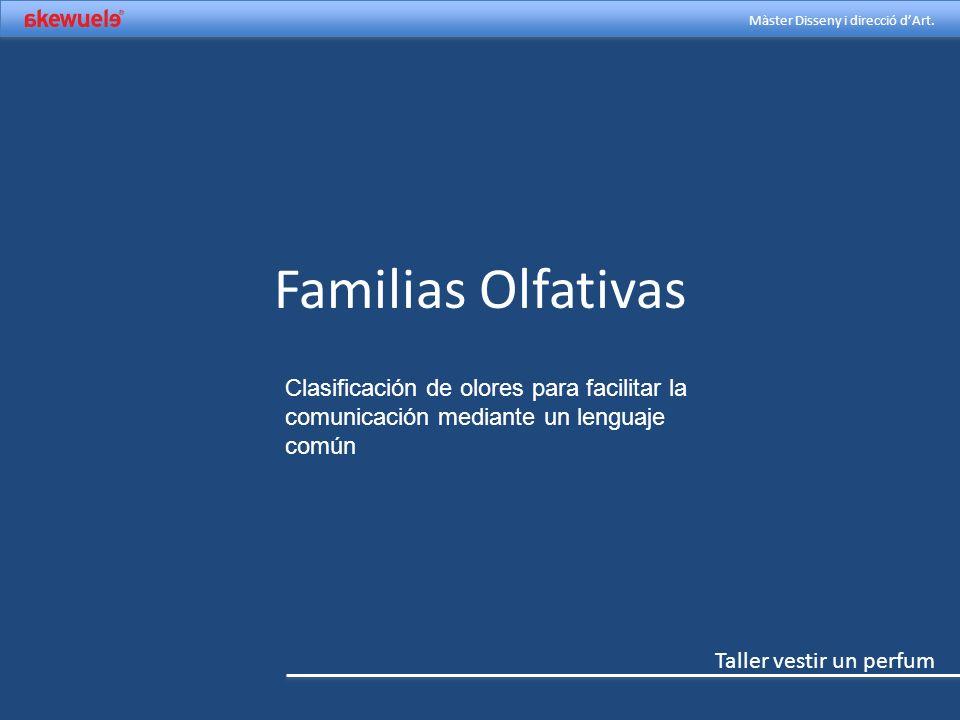 Familias Olfativas Clasificación de olores para facilitar la comunicación mediante un lenguaje común.