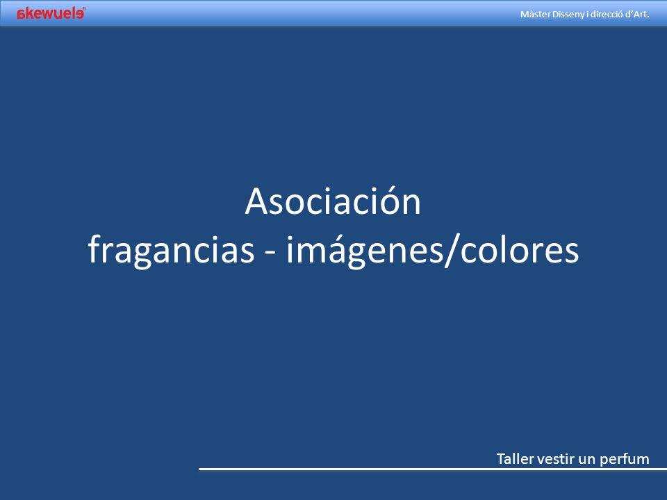 Asociación fragancias - imágenes/colores