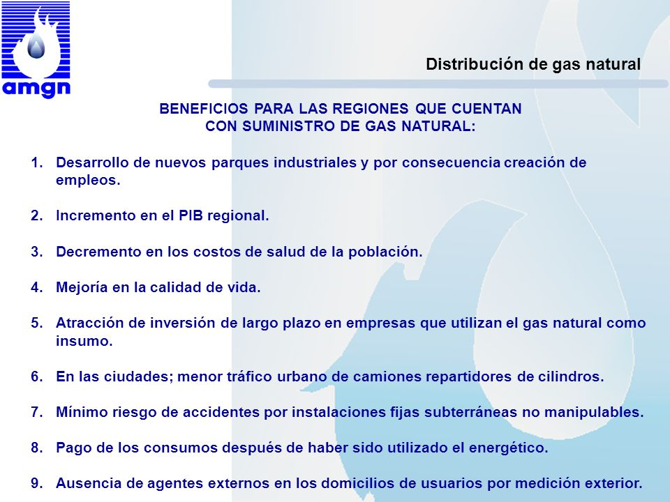 Distribución de gas natural