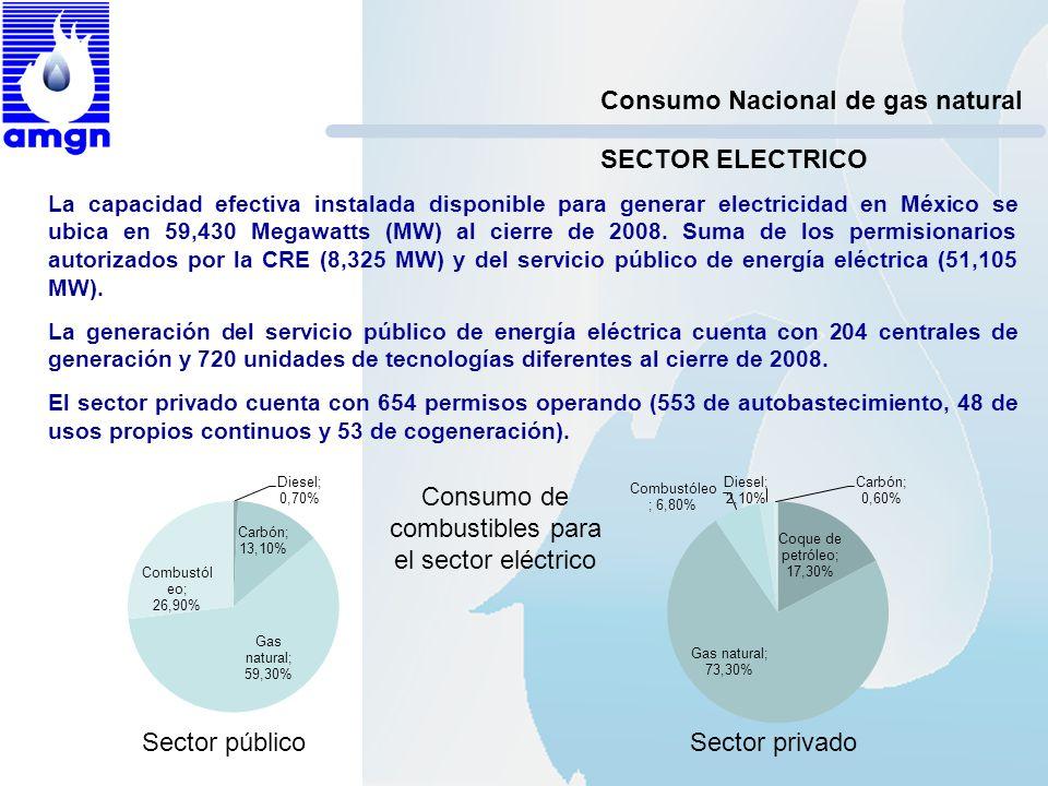 Consumo de combustibles para el sector eléctrico