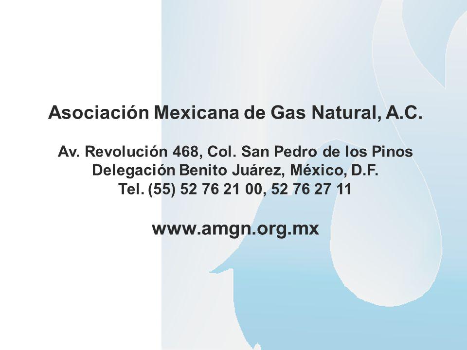 Asociación Mexicana de Gas Natural, A.C. www.amgn.org.mx