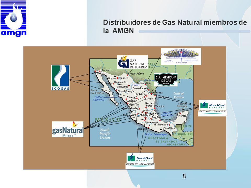 Distribuidores de Gas Natural miembros de la AMGN