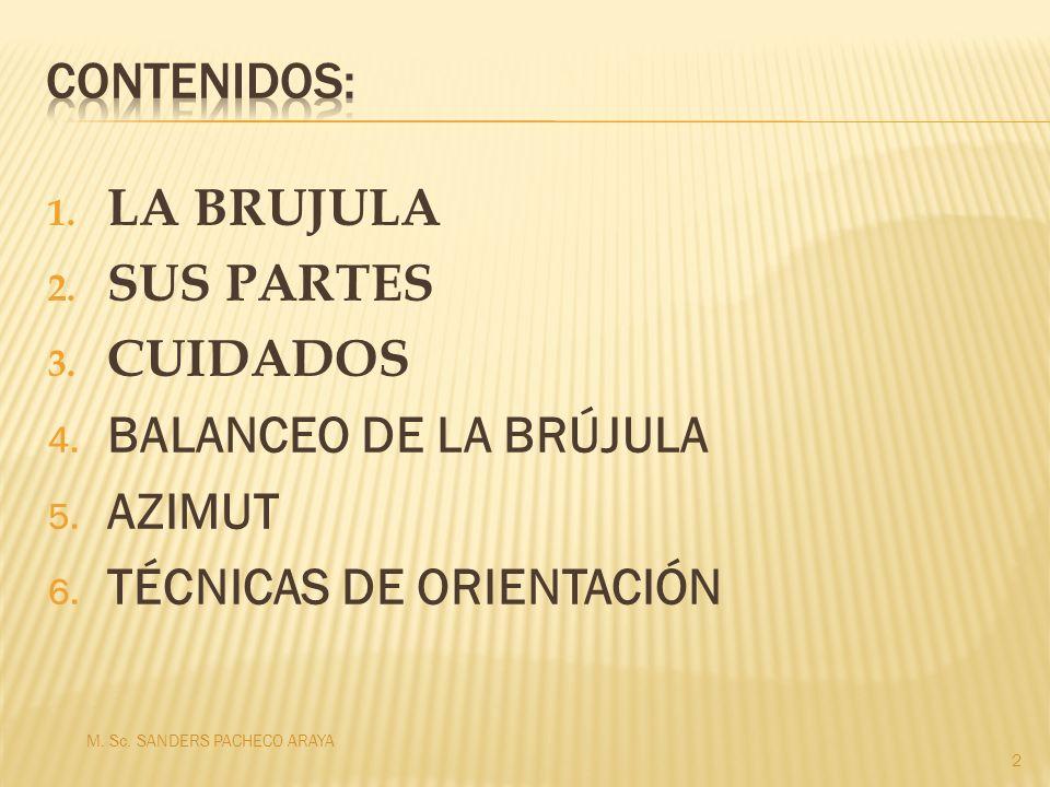 TÉCNICAS DE ORIENTACIÓN