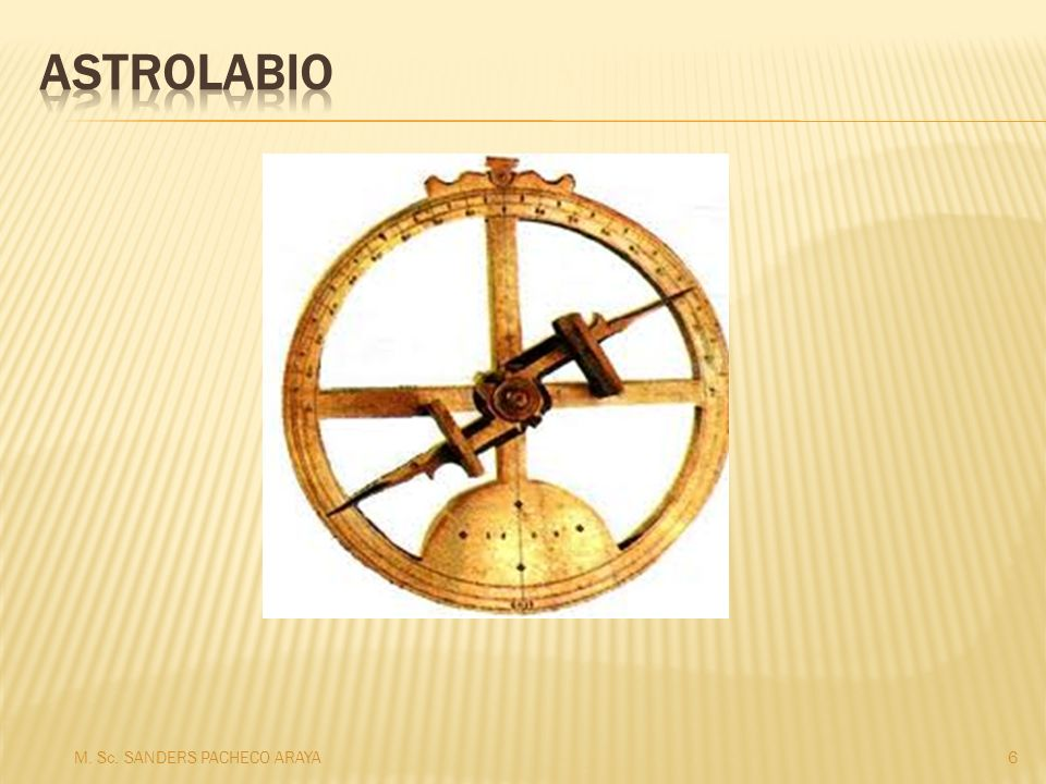 Astrolabio M. Sc. SANDERS PACHECO ARAYA