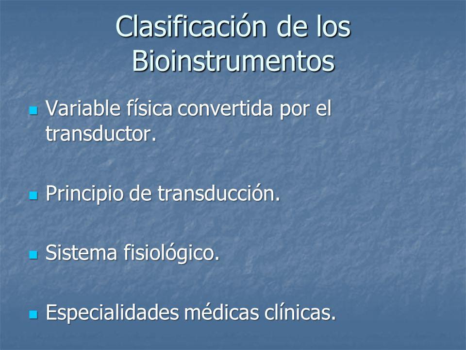 Clasificación de los Bioinstrumentos