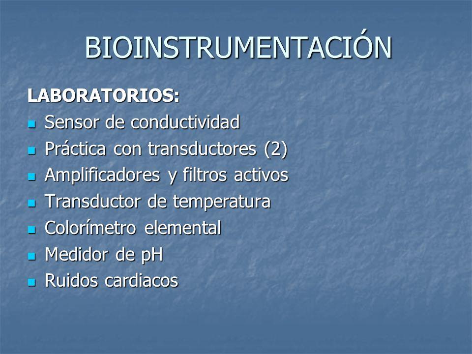 BIOINSTRUMENTACIÓN LABORATORIOS: Sensor de conductividad