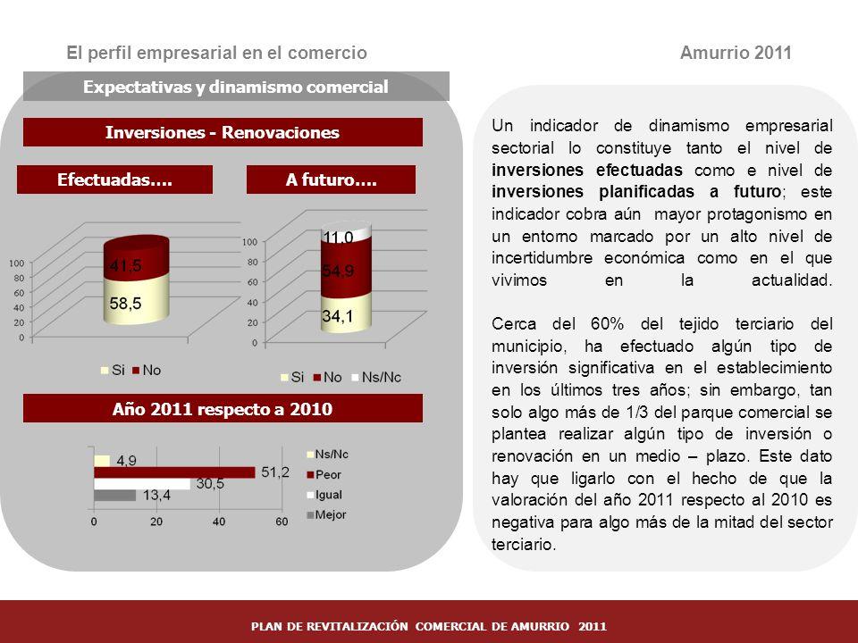 El perfil empresarial en el comercio Amurrio 2011