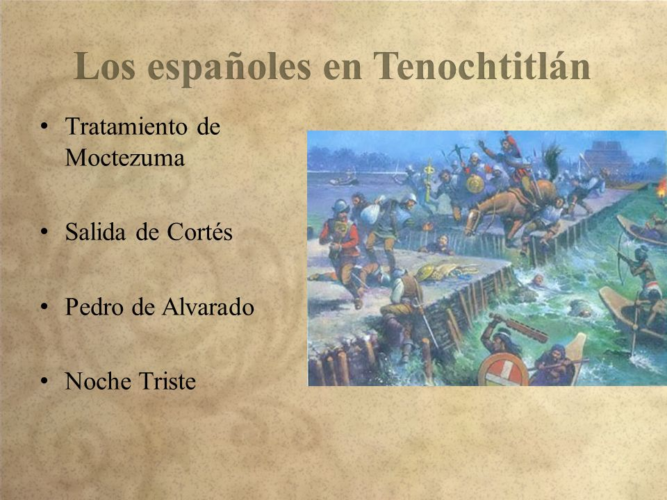 Los españoles en Tenochtitlán