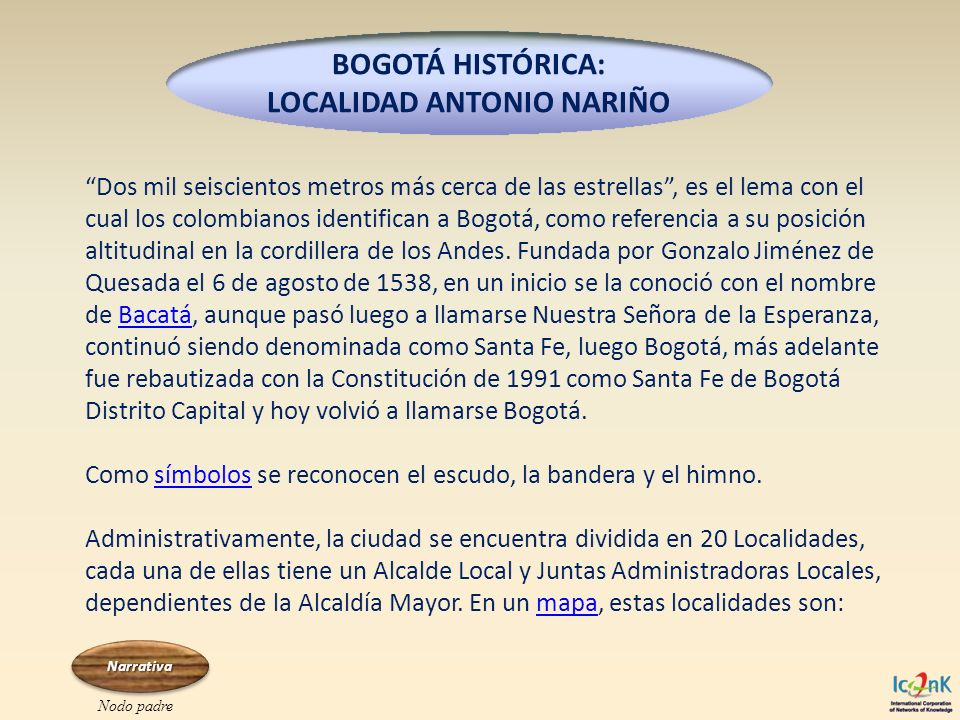 BOGOTÁ HISTÓRICA: LOCALIDAD ANTONIO NARIÑO