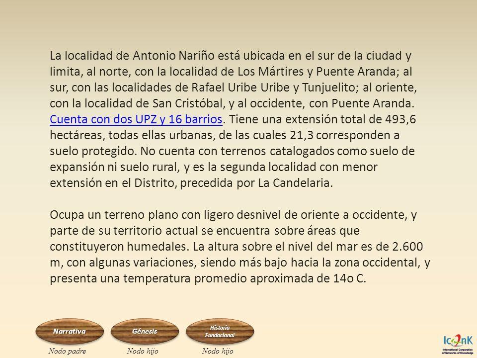 La localidad de Antonio Nariño está ubicada en el sur de la ciudad y