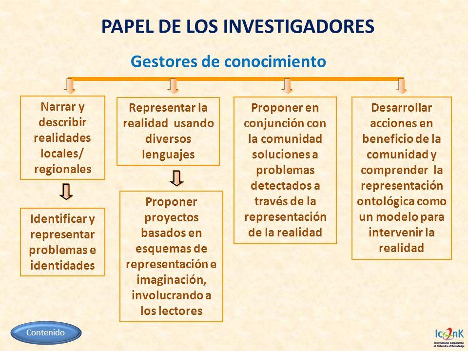 PAPEL DE LOS INVESTIGADORES
