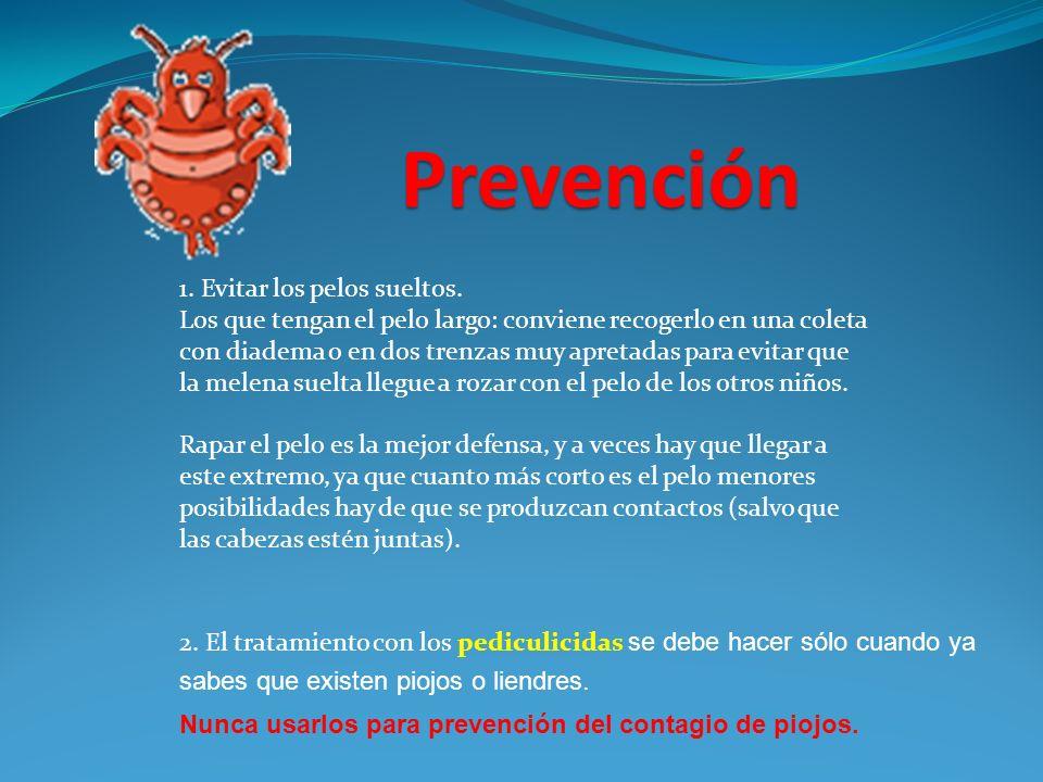 Prevención 1. Evitar los pelos sueltos.