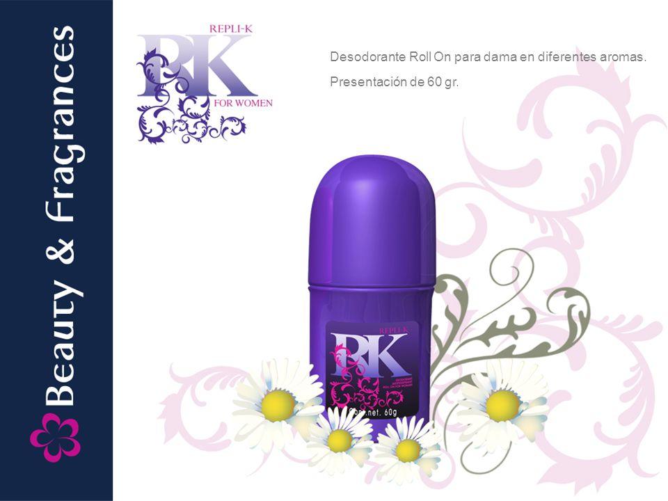 Desodorante Roll On para dama en diferentes aromas.