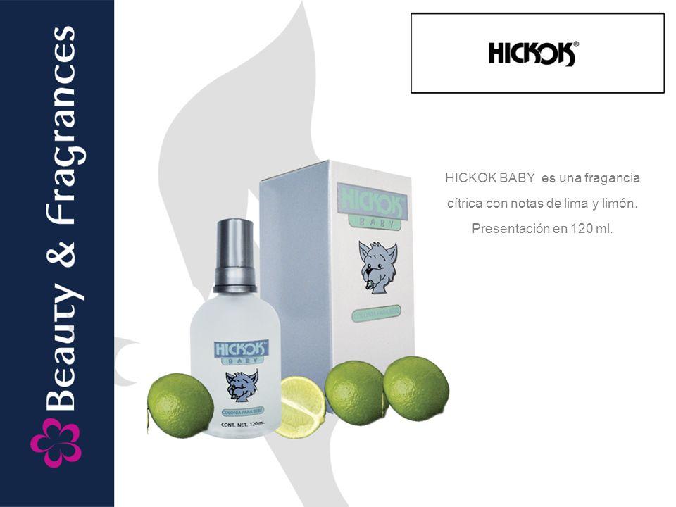 HICKOK BABY es una fragancia cítrica con notas de lima y limón