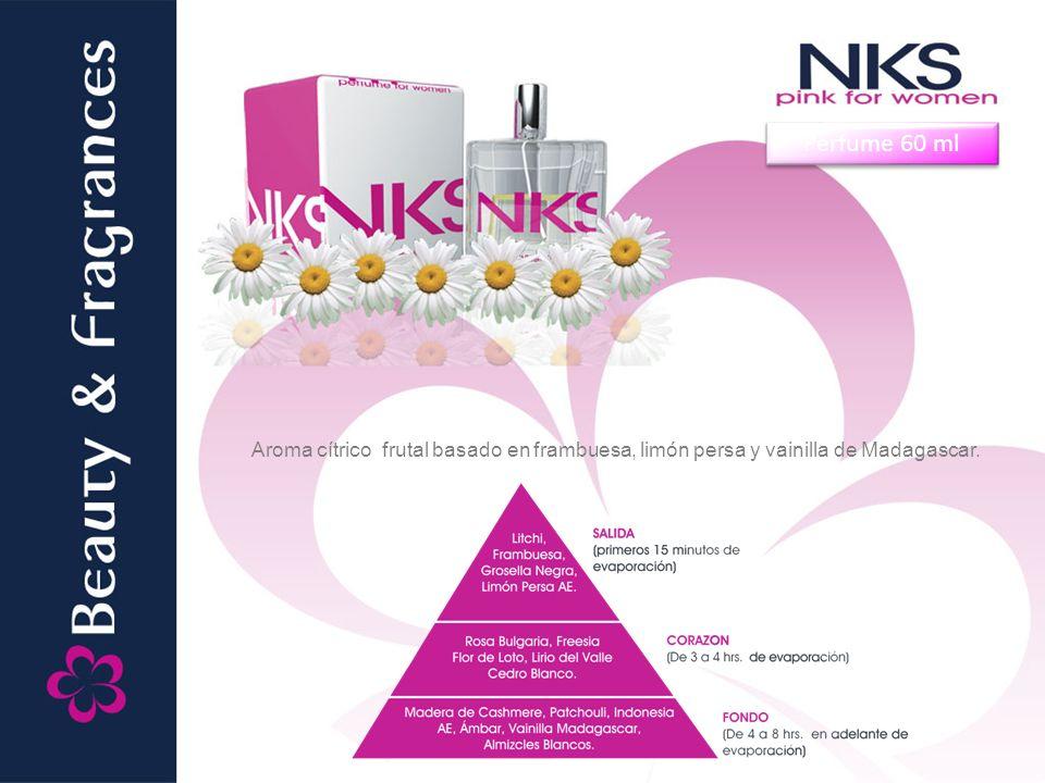 Perfume 60 ml Aroma cítrico frutal basado en frambuesa, limón persa y vainilla de Madagascar.