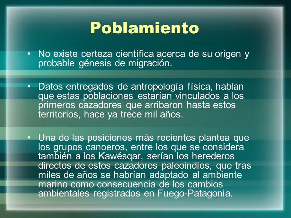 Poblamiento No existe certeza científica acerca de su origen y probable génesis de migración.