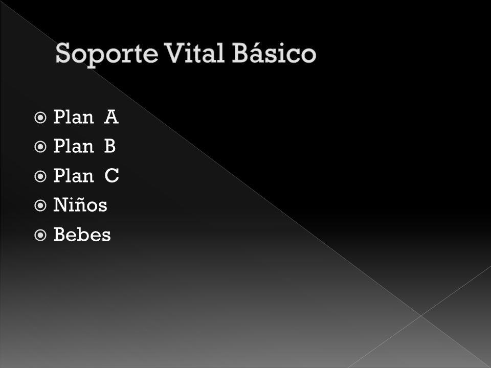 Soporte Vital Básico Plan A Plan B Plan C Niños Bebes