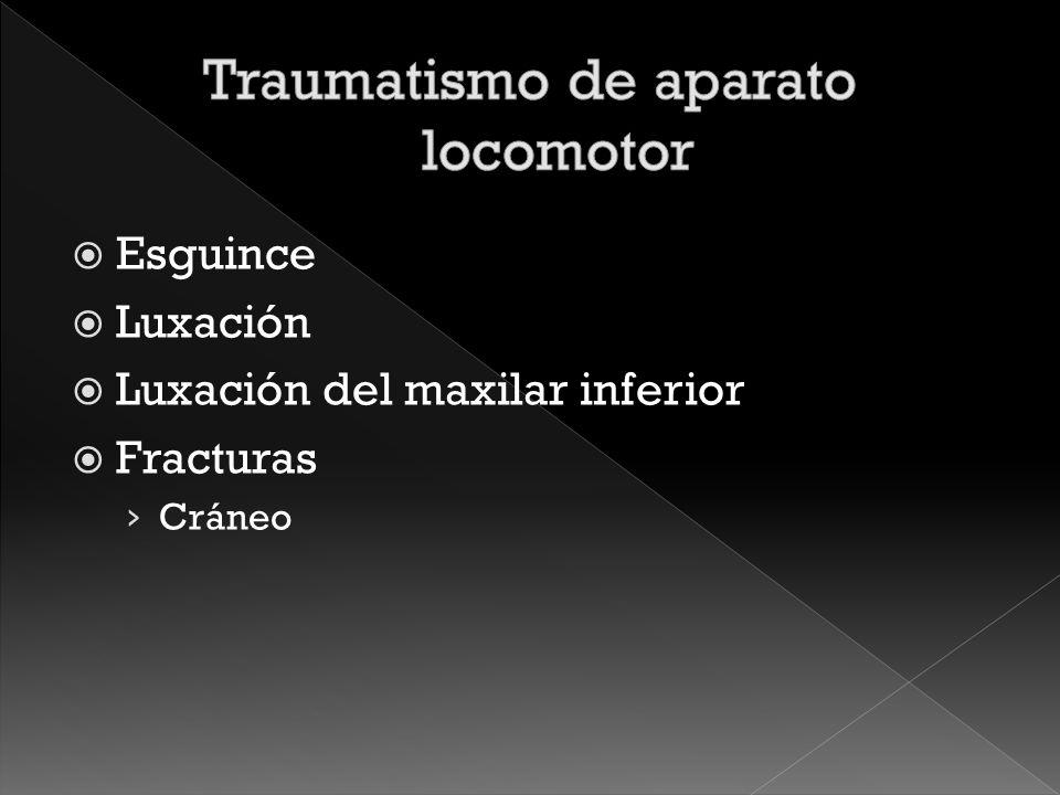Traumatismo de aparato locomotor
