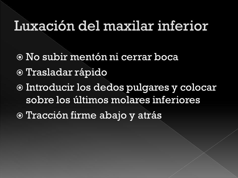 Luxación del maxilar inferior
