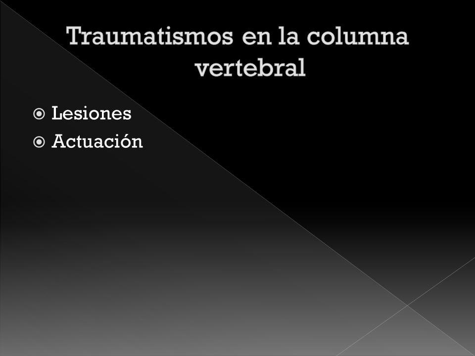 Traumatismos en la columna vertebral