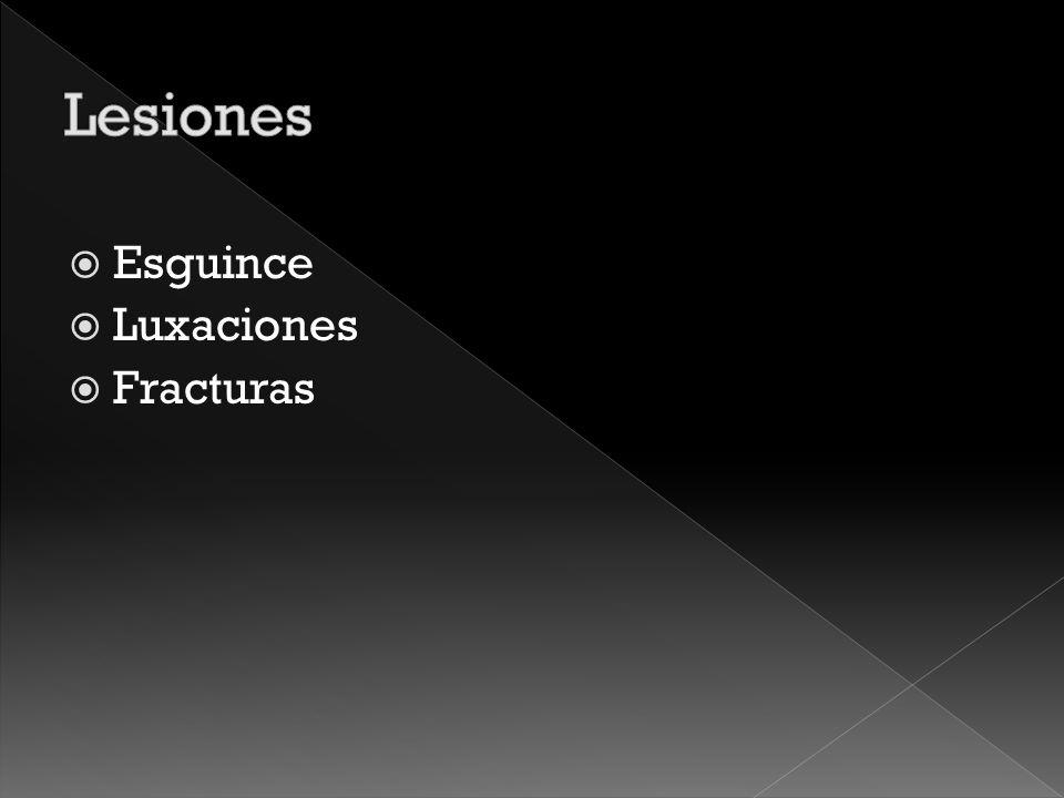 Lesiones Esguince Luxaciones Fracturas
