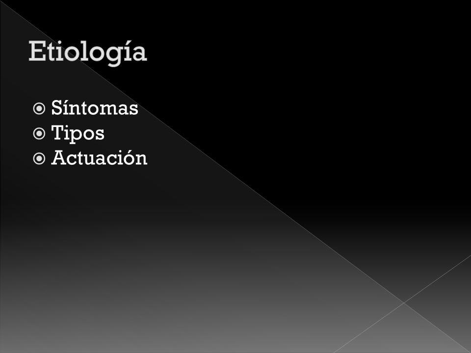 Etiología Síntomas Tipos Actuación
