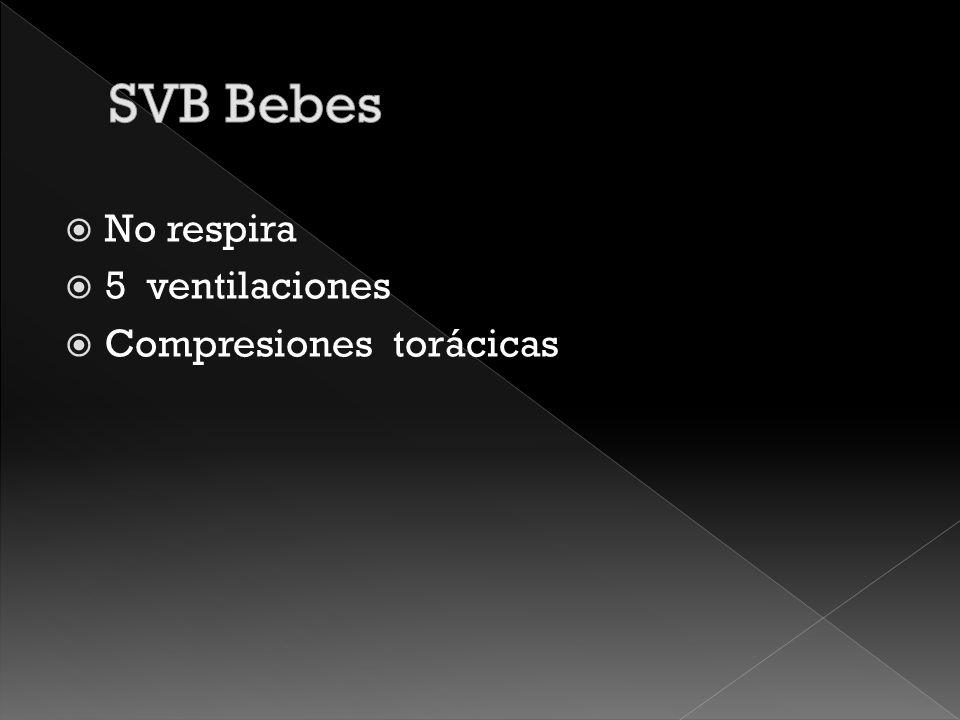 SVB Bebes No respira 5 ventilaciones Compresiones torácicas