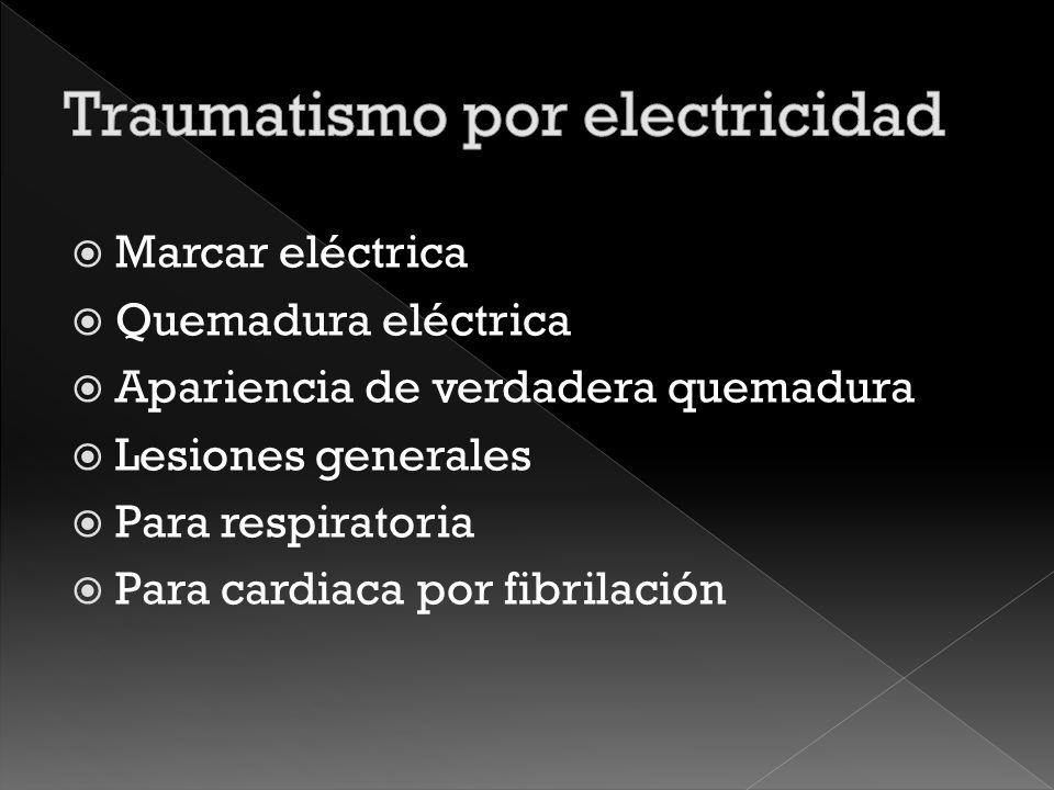 Traumatismo por electricidad