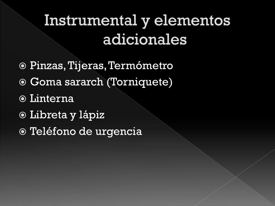 Instrumental y elementos adicionales
