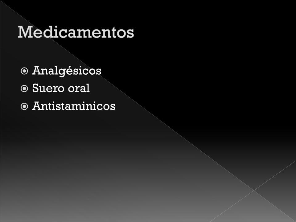 Medicamentos Analgésicos Suero oral Antistaminicos