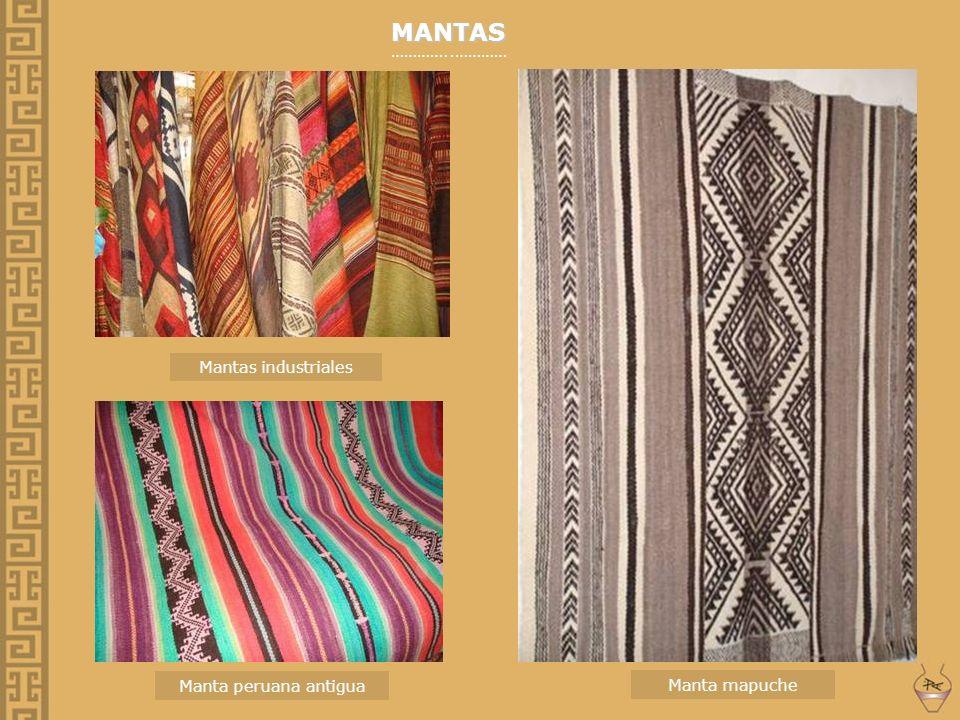 MANTAS …………..………… Mantas industriales Manta peruana antigua