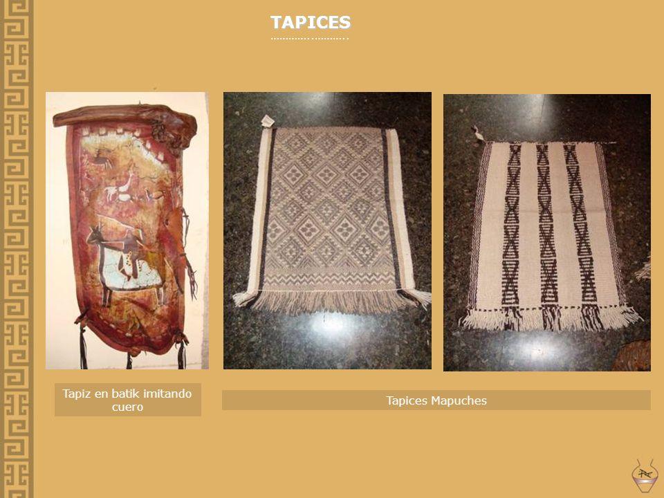 Tapiz en batik imitando cuero