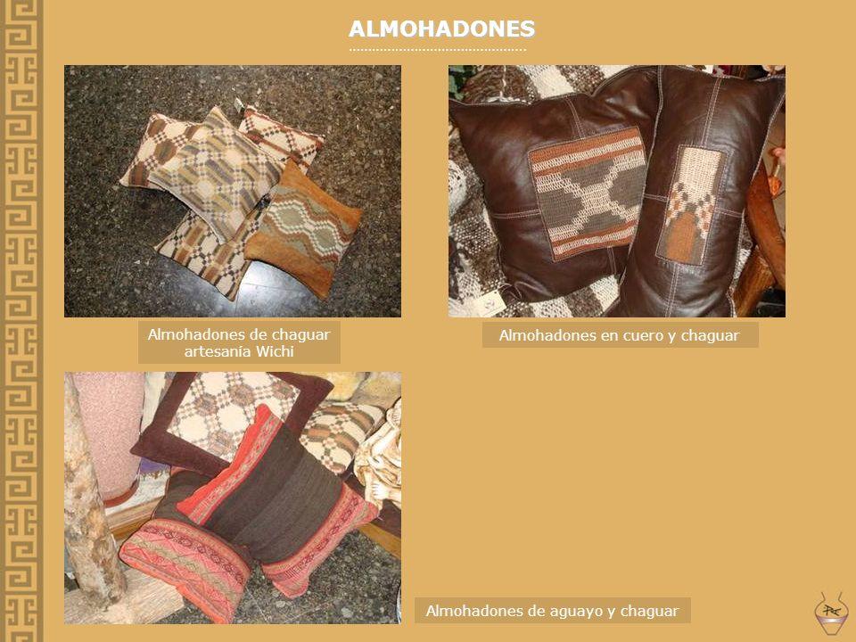 ALMOHADONES ………………………………………. Almohadones de chaguar artesanía Wichi