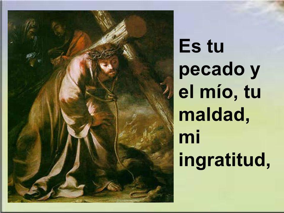 Es tu pecado y el mío, tu maldad, mi ingratitud,