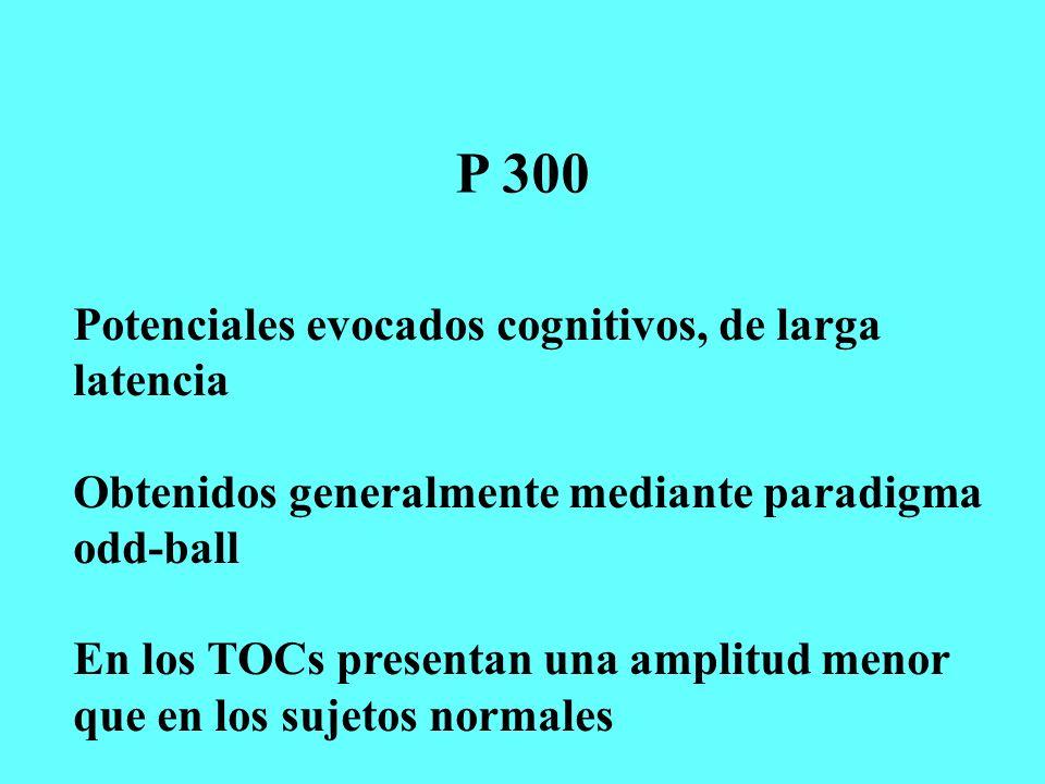 P 300 Potenciales evocados cognitivos, de larga latencia