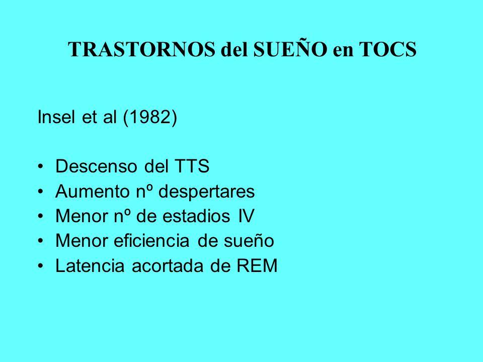 TRASTORNOS del SUEÑO en TOCS