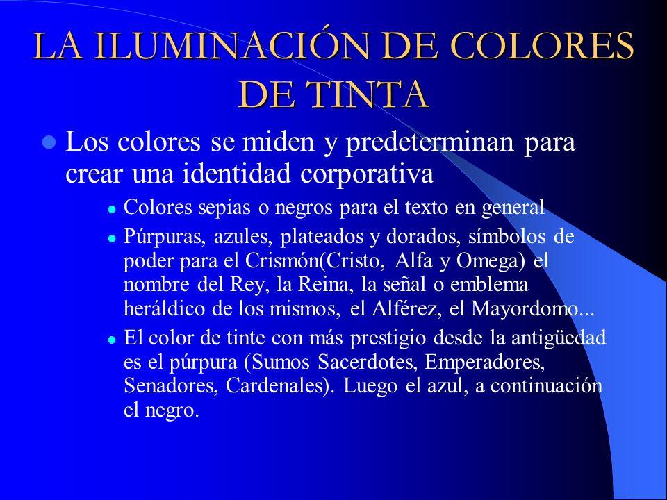 LA ILUMINACIÓN DE COLORES DE TINTA