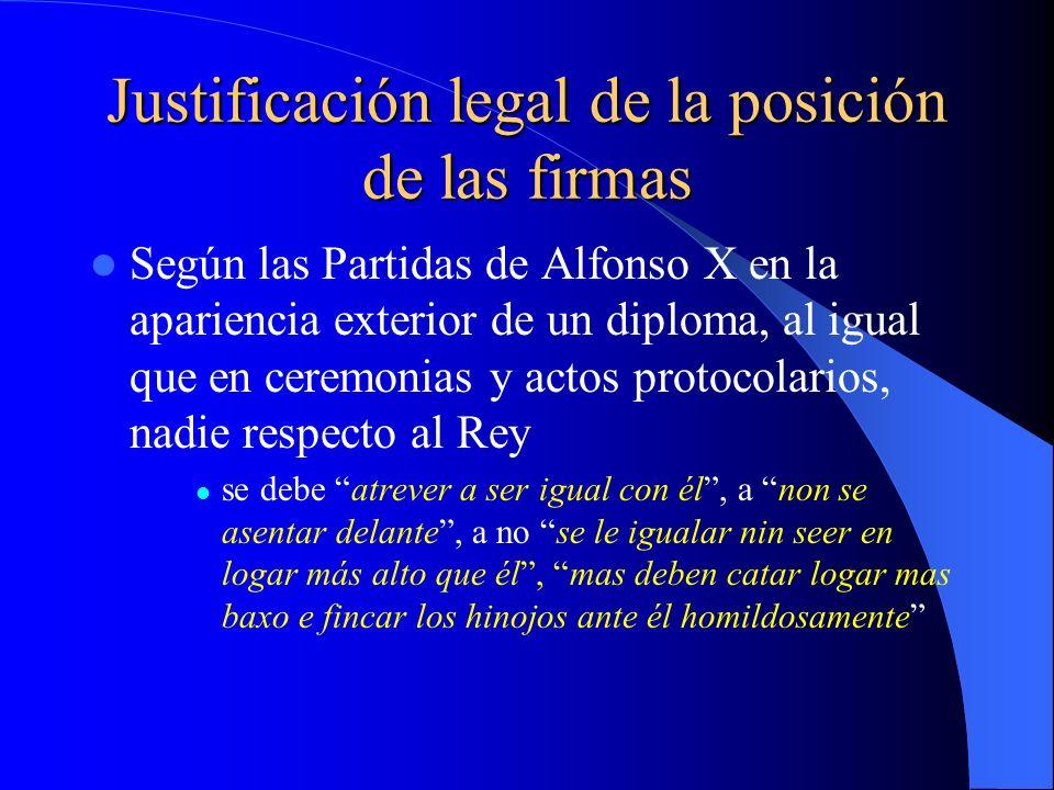 Justificación legal de la posición de las firmas