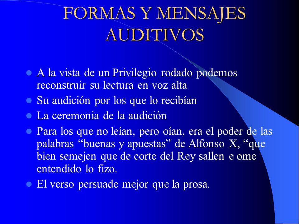 FORMAS Y MENSAJES AUDITIVOS