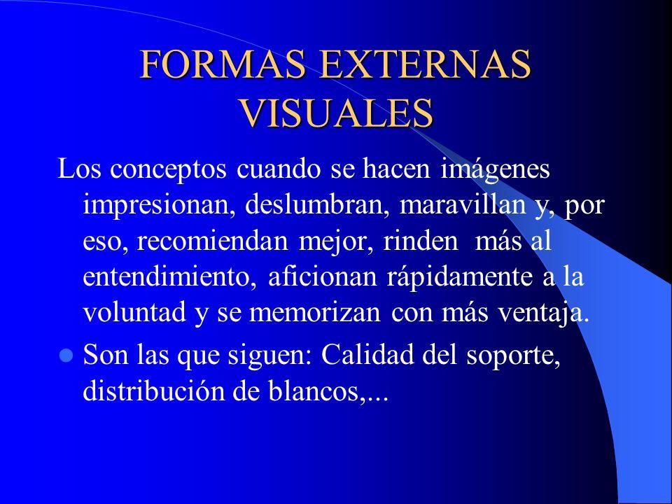 FORMAS EXTERNAS VISUALES