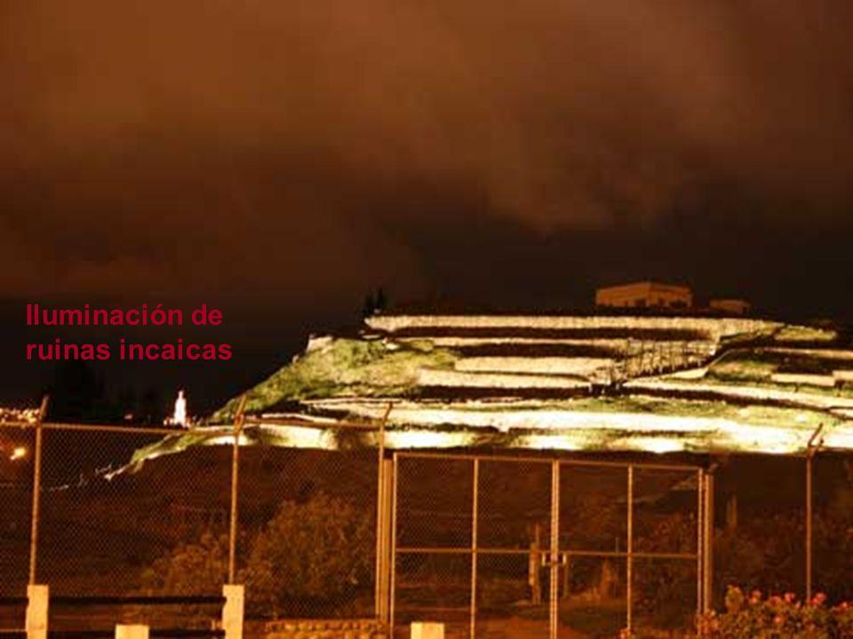 Iluminación de ruinas incaicas