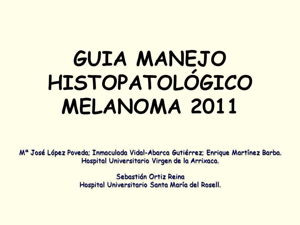 GUIA MANEJO HISTOPATOLÓGICO MELANOMA 2011