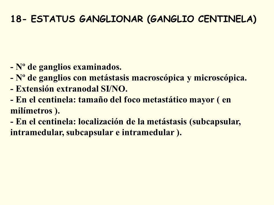 18- ESTATUS GANGLIONAR (GANGLIO CENTINELA)