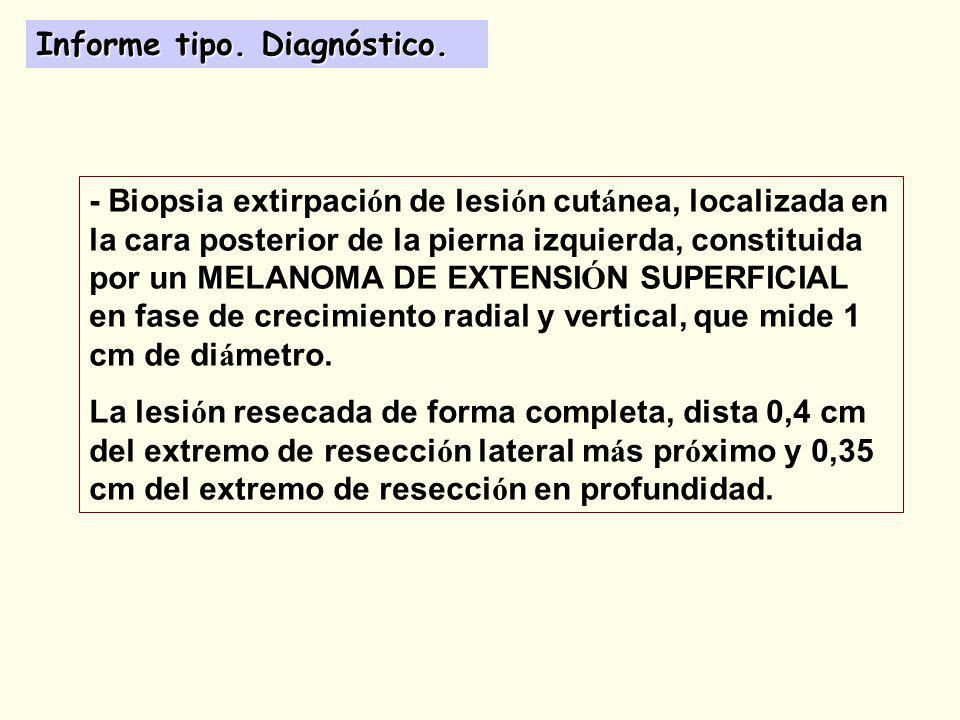 Informe tipo. Diagnóstico.