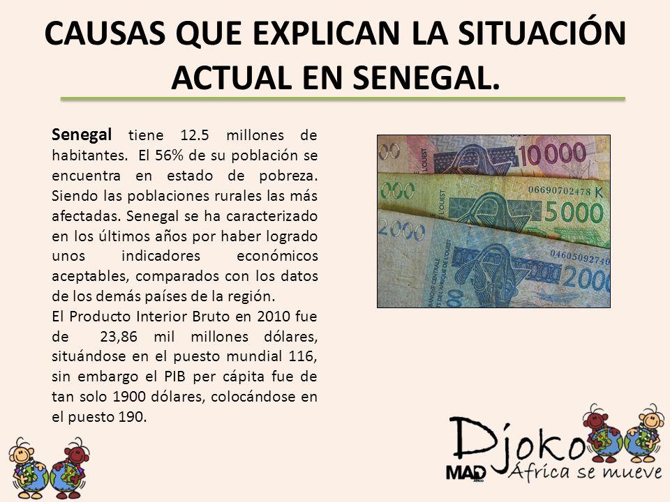 CAUSAS QUE EXPLICAN LA SITUACIÓN ACTUAL EN SENEGAL.