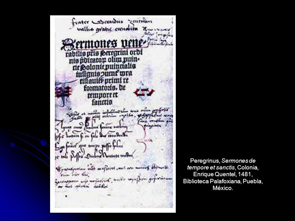 Peregrinus, Sermones de tempore et sanctis, Colonia,