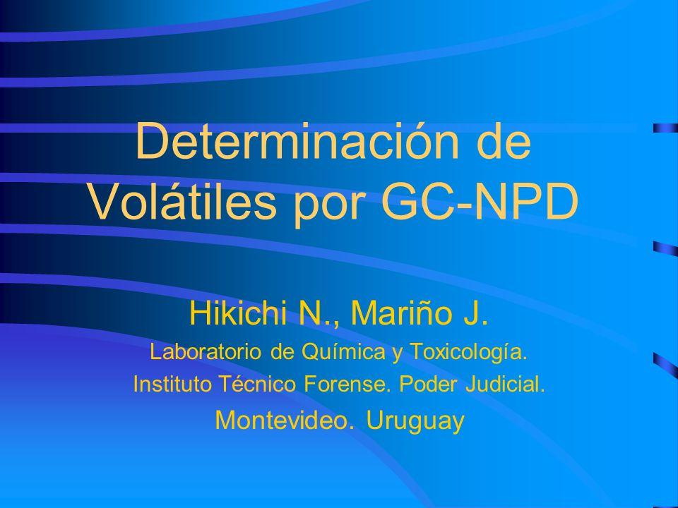 Determinación de Volátiles por GC-NPD